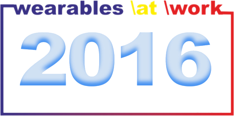 "Das Logo der ""wearables \at \work 2016"" Fachtagung am 17.02.2016"