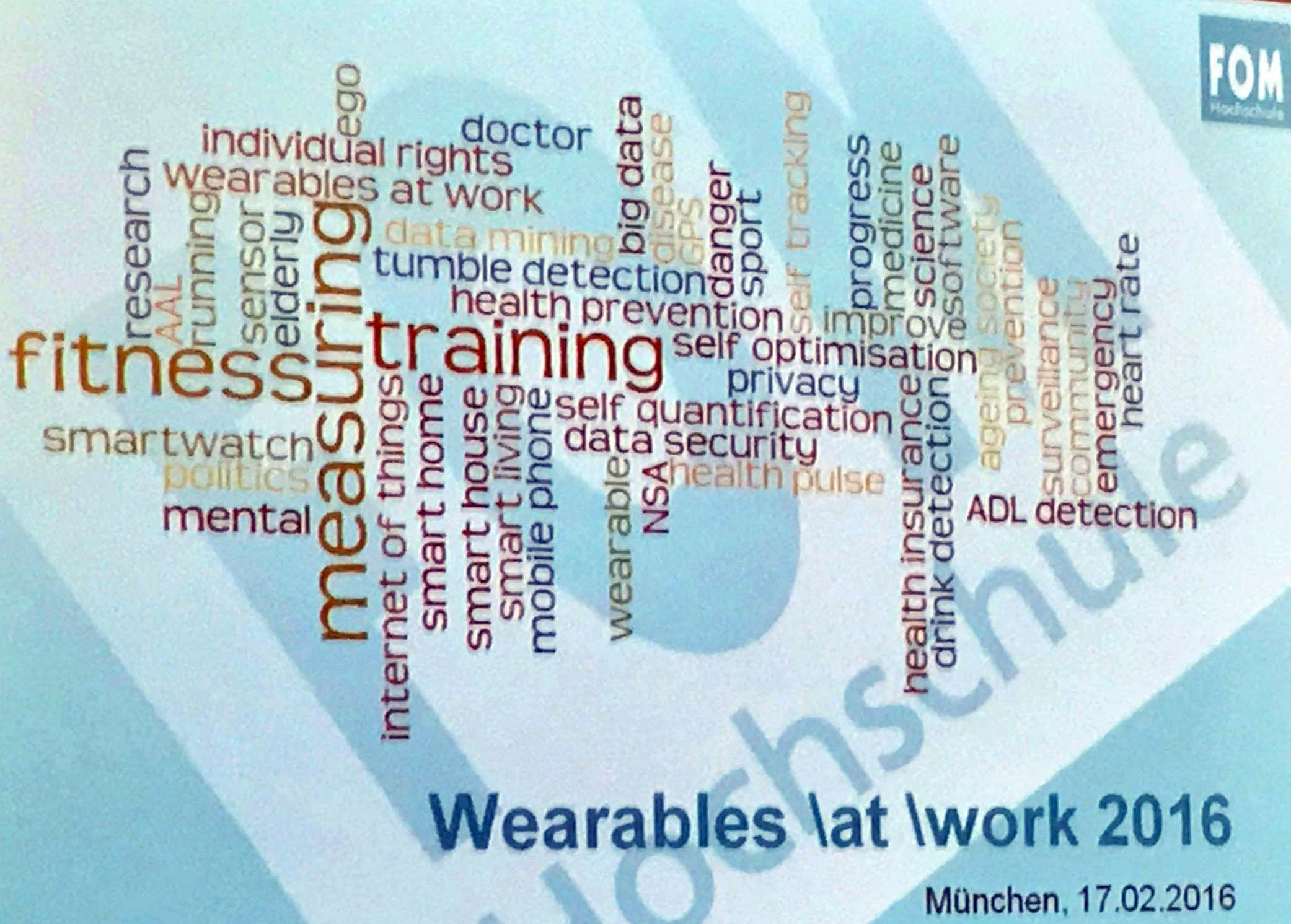 Bericht zur Fachtagung  Wearables \at \work 2016