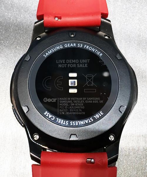 Rückseite Samsung Gear(TM) S3