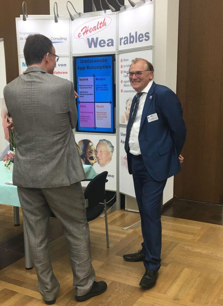 Spannende Gespräche mit Fachbesuchern unseres Ausstellungsstandes beim 3. eHealth-Kongress der gesundheitswirtschaft rein-main e.v. in Frankfurt.