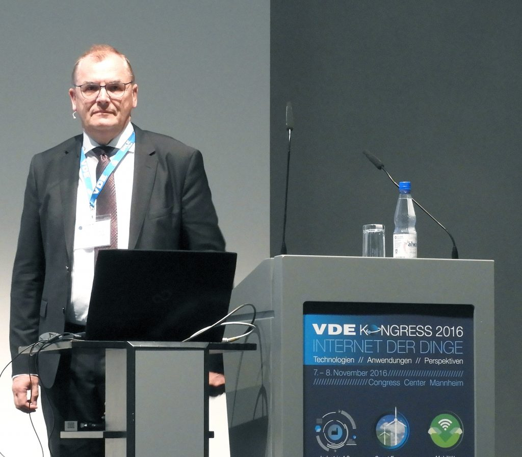 Referat Dr.-Ing. Rainer Lutze: Handling von Wearable Alarmen im IoT, beim VDE Kongress 2016 - Internet der Dinge