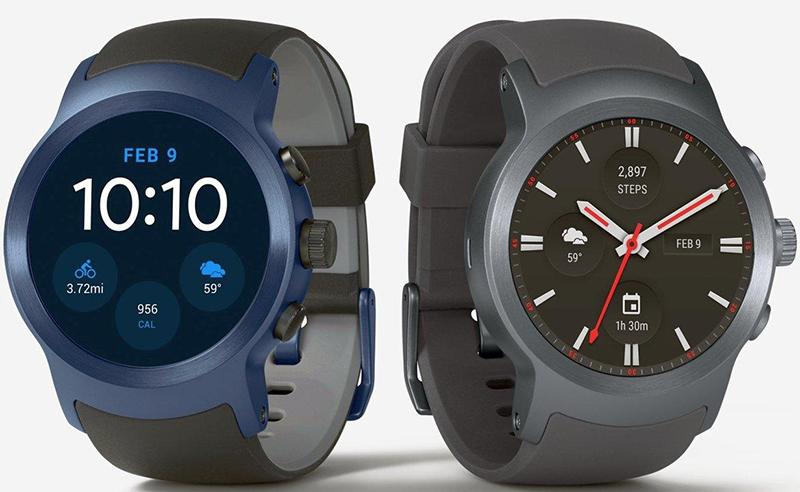 LG Watch Sport blau und grau