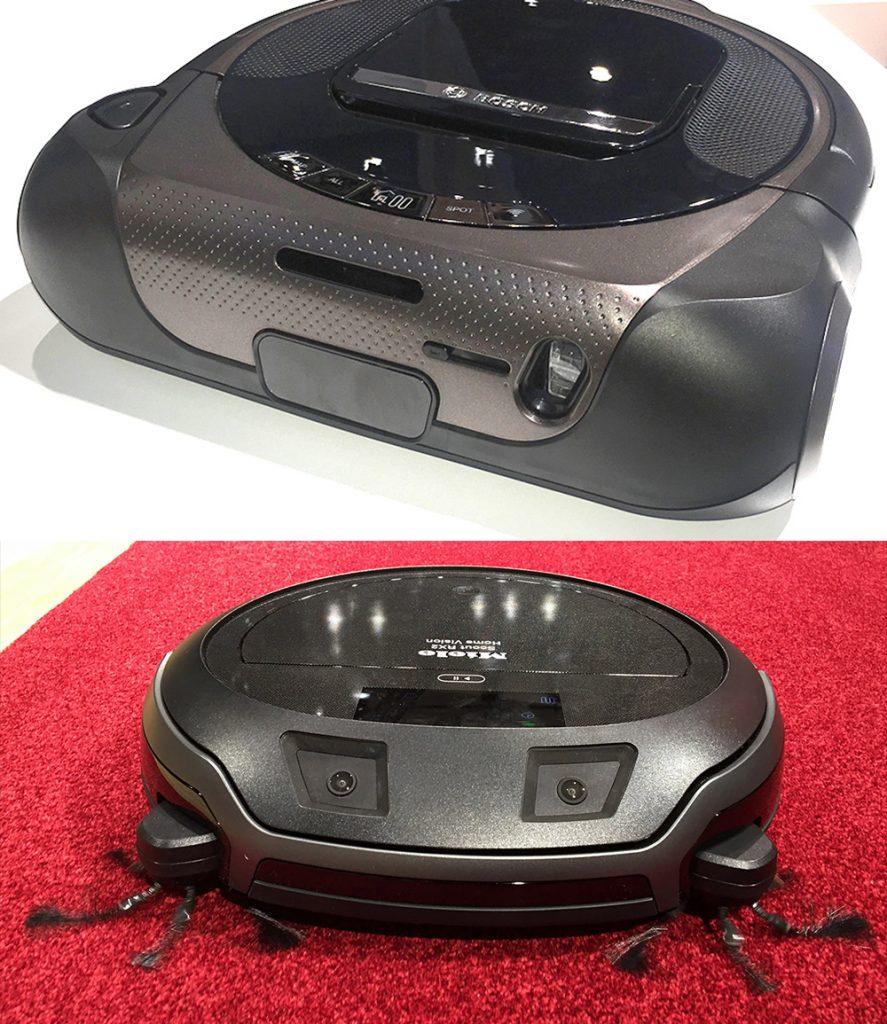 Roboter Staubsauger von Bosch (oben) und Miele (unten), IFA 2017