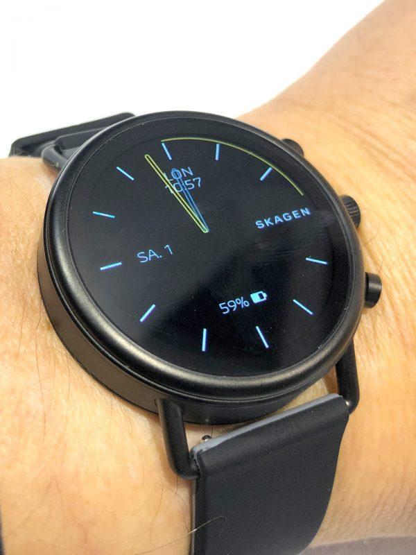Schrägansicht der Fossil Skagen Falster(TM) 2 Smartwatch