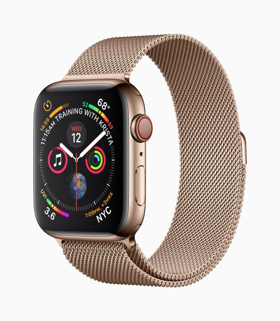 Apple Watch (TM) Series 4 Gold mit Milanaise Armband