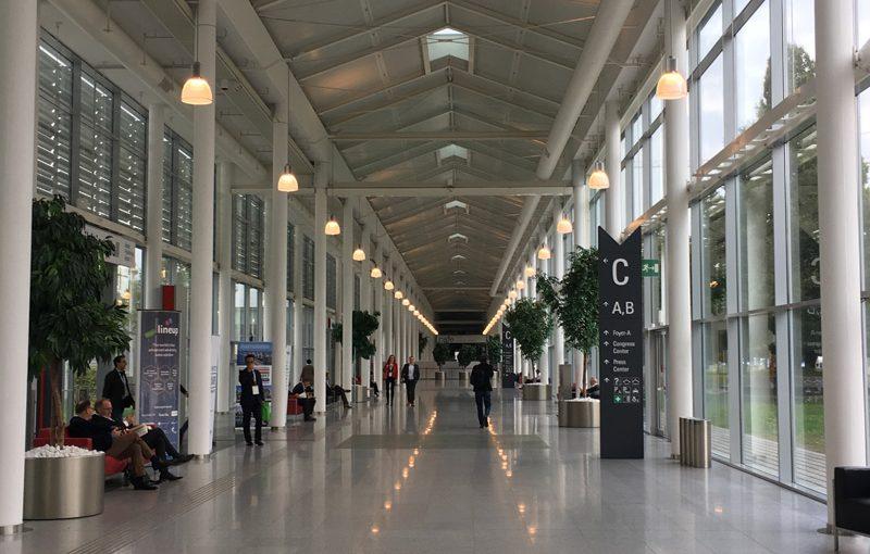 Leere Hallen bestimmten die WAN-IFRA World Publishing Expo 2016 in Wien