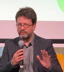 Thomas Kaspar stellt die Ippen Effizienzplattform anäßlich der Medientage München 2018 vor