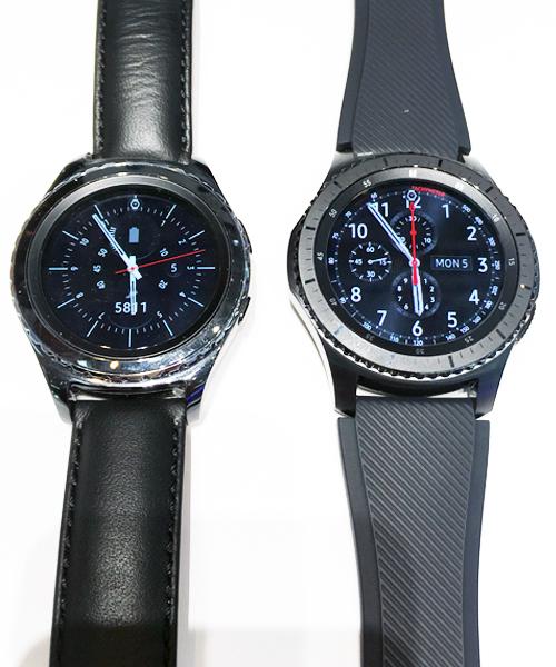 Samsung Gear(TM) S2 3G und S3 Im Größenvergleich