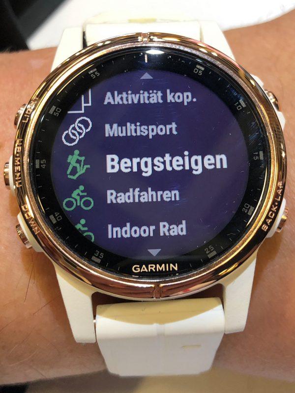 Einige unterstütze Sportarten für die Garmin Fenix(TM) 5S Plus Smartwatch