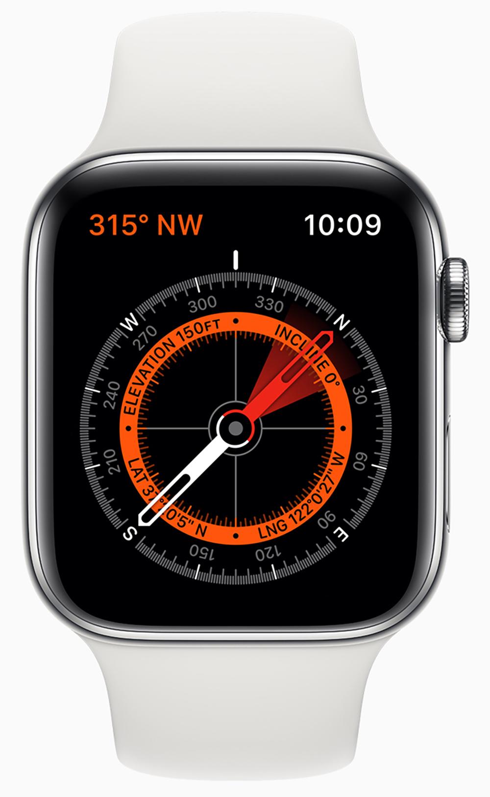 Kompass App der neuen Apple Watch 5