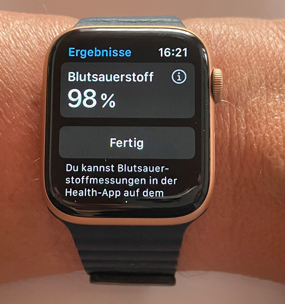 """SpO2 Messung mit der Apple Watch 6"""" width="""