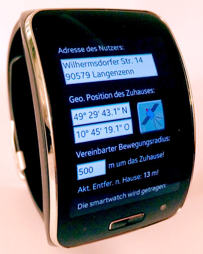 Configuration editor for the smartwatch app