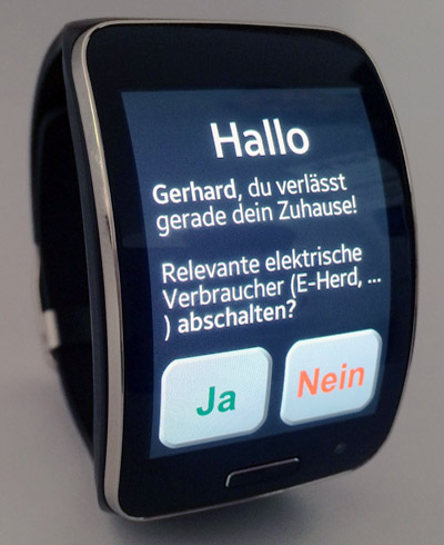 SmartWatch controlling home automation system