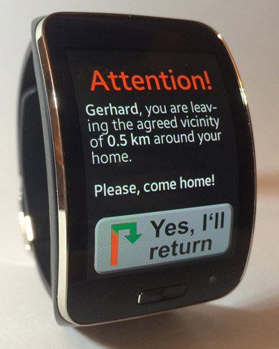 Localization by Smartwatch